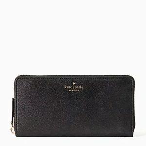 NWT Kate Spade Joeley Large Black Wallet